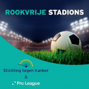 Pro League en Stichting tegen Kanker partners voor Rookvrije Stadions