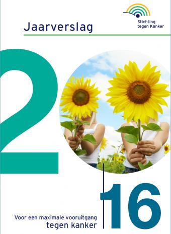 Cover jaarverslag 2016 van Stichting tegen Kanker