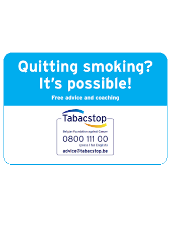 Visitekaartjes Tabakstop Engels: Quitting smoking? It's possible! Free advice and coaching