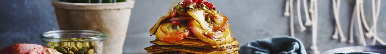 Sofie Dumont: pancakes van zoete aardappel en gebakken appel