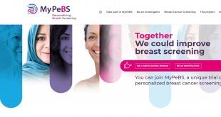 Dépistage du cancer du sein: lancement officiel du programme MyPeBS, co-financé en Belgique par la Fondation contre le Cancer.