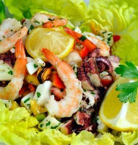 Salade fruits de mer zeevruchten sla