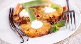 Warme ananas met vanille