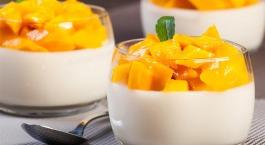 Mango-kokosdessert