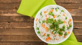rijst met erwtjes