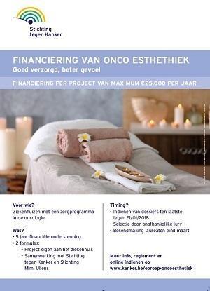 Affiche financiering van onco esthetiek